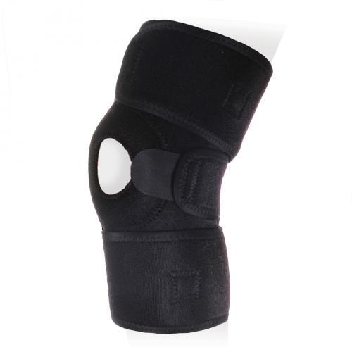 Бандаж на коленный сустав разъемный с ребрами жесткости и силиконовым кольцом KS-053