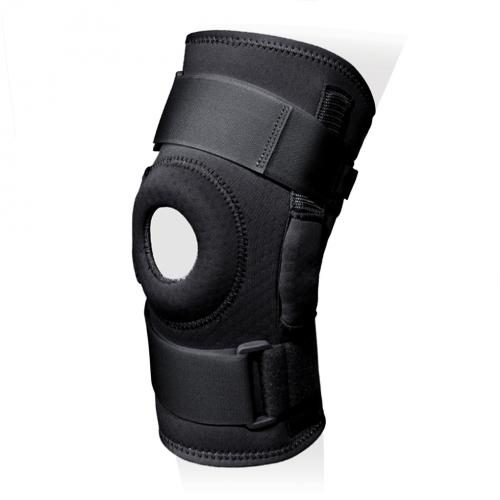 Бандаж на коленный сустав разъемный с полицентрическими шарнирами и силиконовым кольцом KS-RP