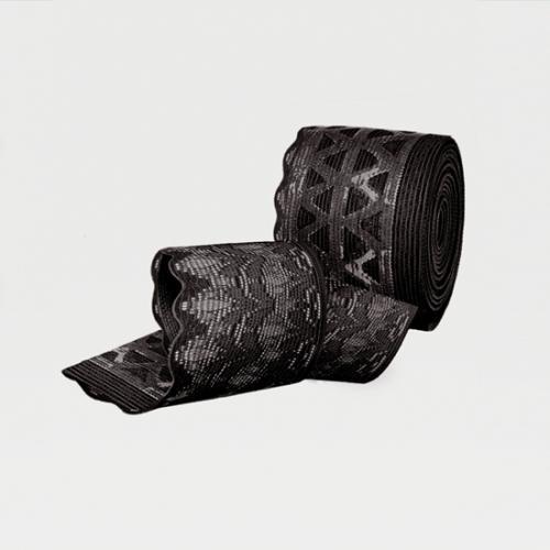 Компрессионные чулки с ажурной резинкой на широкое бедро ID-301W